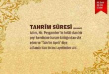 Tahrim Suresi
